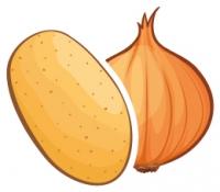 Kiemremming aardappelen en uien