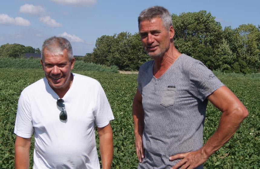 De Kiemremmers: akkerbouwer Gabri Born (links) en adviseur Jan van Vugt van Van Iperen (rechts).